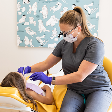 Pediatric Dental Cleaning with Dental Hygienist